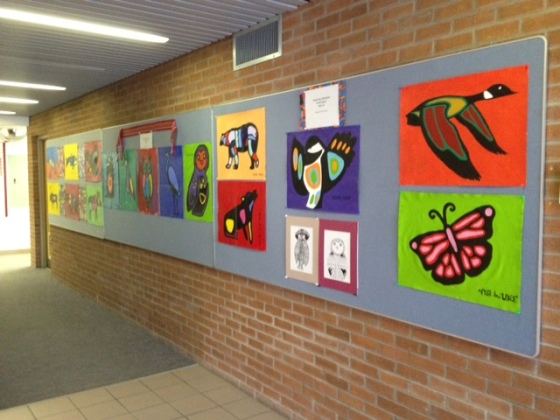 Gr 9 art display-board office