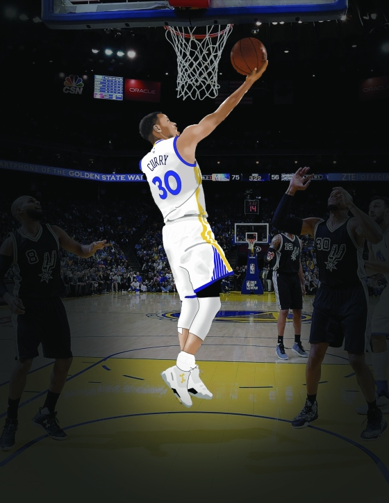 Steph Curry Digital Painting - Medeiros